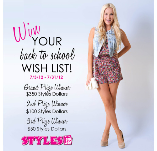 Only a couple days left to enter for a chance to Win Your Back to School Wish List! For more details & how to enter, follow this link >