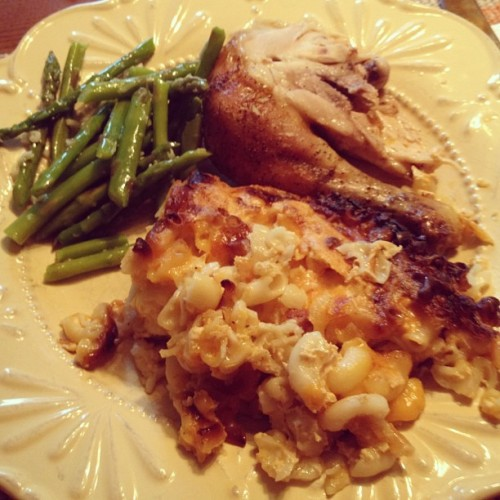 Best thing I've eaten all week, mom and sis killed it. (Taken with Instagram)