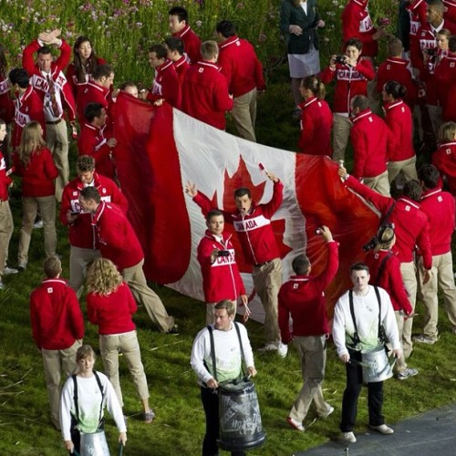 Canadian athletes enter the Olympic Stadium during the Opening Ceremonies for the 2012 Summer Olympic Games in London, England Friday, July 27, 2012. (Kevin Van Paassen/The Globe and Mail) #london2012 #olympics #canada #photojournalism  (Taken with Instagram)