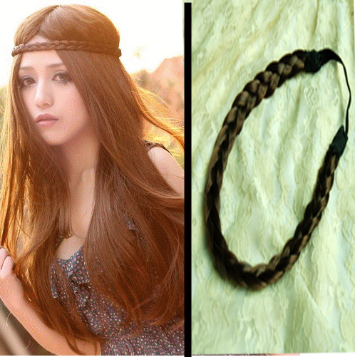 Stylish Brown Bohemian Style hand tied Hair Plait Length Adjustable  shop from Merpher.L