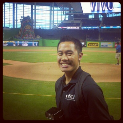 On the field at Marlins ballpark (Taken with Instagram)