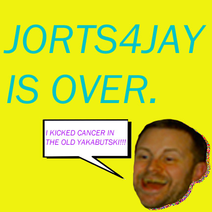 Wearing tight shorts helped raise a lot of loot for Jay's medical bills (like $15,000). And while my man parts were enduring extreme compression, Jay was doing exactly what we all knew he would - CRUSHING CANCER LIKE A BADASS. The doctors say his scans look clean. In fact, he's just one final chemo treatment away from getting back to enjoying his wife and two beautiful boys. All I can say is that it's been an honor to jort each and every one of you! Who knows, maybe from time to time I'll post a jorting just for kicks:) From the bottom of my jorts, know this…THANK YOU SO VERY VERY MUCH!!!