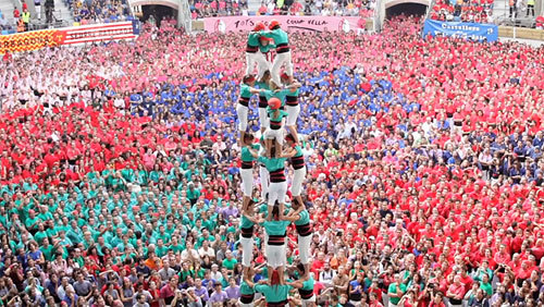 Check out these Human Towers!