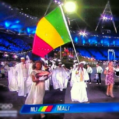 Pissanssi #Mali #223 #team223 #Africa #Olympics #London2012 #ceremony  (Taken with Instagram)