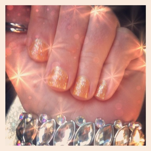 Summer nails! Love..! 😍 🌴 ☀ 🍊 #bright #bling #cute #colorful #girly #glitter #glam #instaorange #instanails #instagood #mynails #nails #nailpolish #nailcolor #nailart #orange #shimmer #summer #sparkles #essie #sinfulcolors (Taken with Instagram)