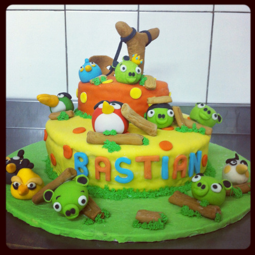 Angry Birds cake   Hand made by Esfema