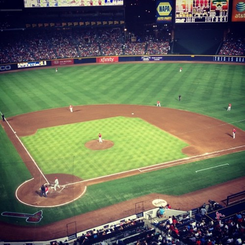 #braves vs #phillies #ATLANTABRAVES #atl #baseball #cleatchaser #chipperknows #atlanta  #hotlanta #swag (Taken with Instagram)