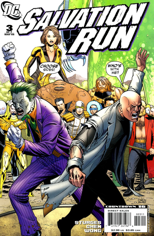 Salvation Run #3, March 2008, cover by Sean Chen and Walden Wong