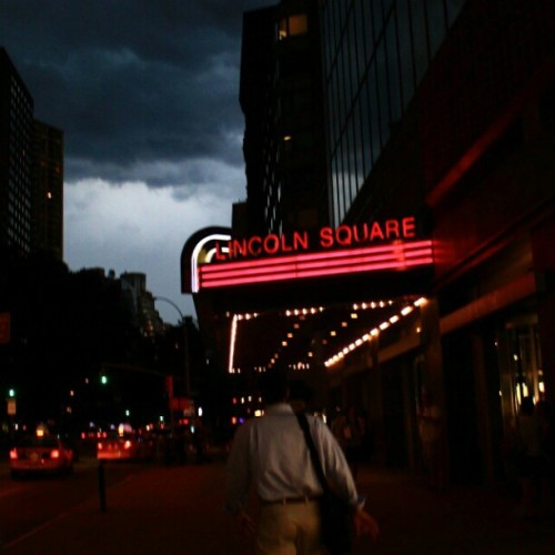 07262012 #AMC Loews #LincolnSquare // Our #Escape from the #Storm! :) // #DarkKnightRises // #NYC #Weather #Movies #Batman (Taken with Instagram at AMC Loews Lincoln Square 13)