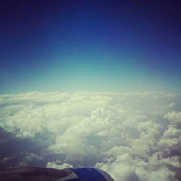 Blue skies. PSA —> LHR (Taken with Instagram)