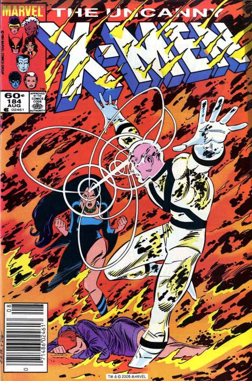 X-Men #184, August 1984, cover by John Romita Jr and Dan Green