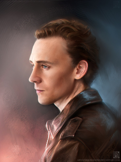 Portrait work of Tom Hiddleston. A nice little morning exercise. Dedicated to a friend. <3 Done on Painter XI/Wacom tablet (one layer painting). Drawn from scratch (reference used). 3 - 5hr work.