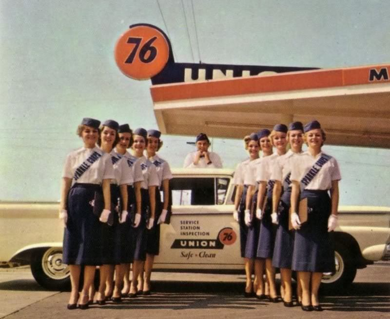 hollyhocksandtulips:  Union 76 Sparkle Corps, 1959