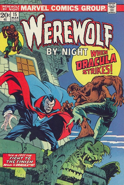 Werewolf By Night #15, March 1974, cover by Mike Ploog