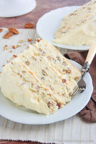 bakeddd:  toasted butter pecan cake click here for recipe
