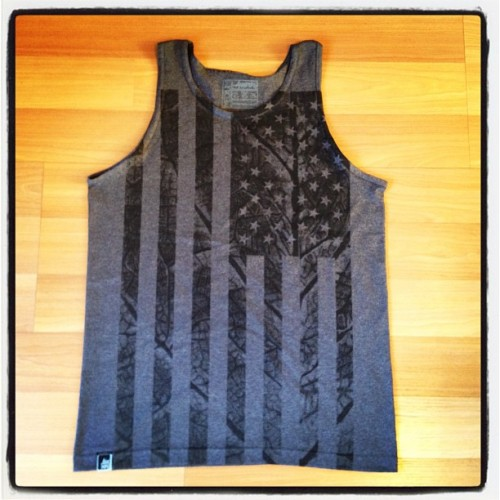 But wait, there's more! Brand new 'Flag' tank also now in stock at the boutique. 'Mericuh. 🇺🇸 #anenberg  (Taken with Instagram at Anenberg Boutique at Victoria Gardens)