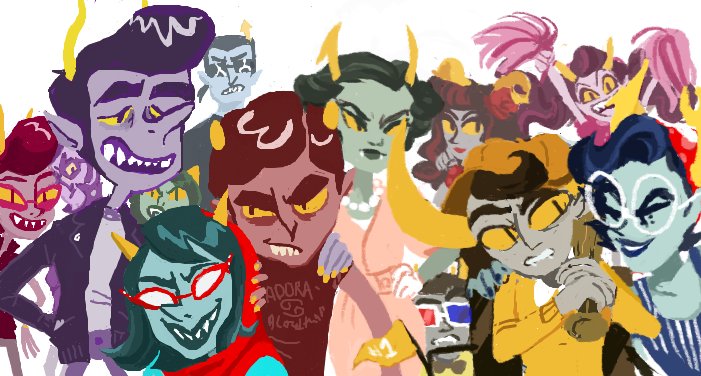 ninja-tittied:  50'sstuck collab half done on iscribble with kilogramrose !!  this was so fun!