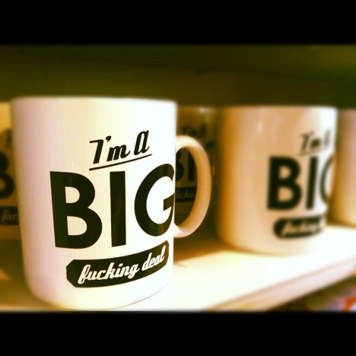 saw this in #urbanoutfitters yesterday ☕ #coffecup#imabigfuckingdeal#cocky#mug#cute  (Taken with Instagram)