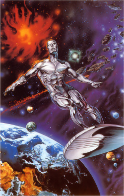 2-cents:  travisellisor:  Silver Surfer by Joe Jusko  Had this poster in my room growing up….. Loved it so much.  I desperately want this poster…