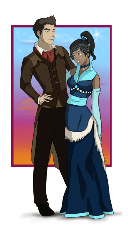 Makorra week day 7! Ever After. Mako and Korra on their wedding day.