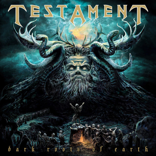 tay-disco-rayado:  TestamentDark Roots Of Earth (Julio - 2012)01. Rise Up02. Native Blood03. Dark Roots Of Earth04. True American Hate05. A Day In The Death06. Cold Embrace07. Man Kills Mankind08. Throne Of Thorns09. Last Stand For Independence10. Dragon Attack (Queen cover)11. Animal Magnetism (Scorpions cover)12. Powerslave (Iron Maiden cover)13. Throne Of Thorns (extended version)  Download HERE!
