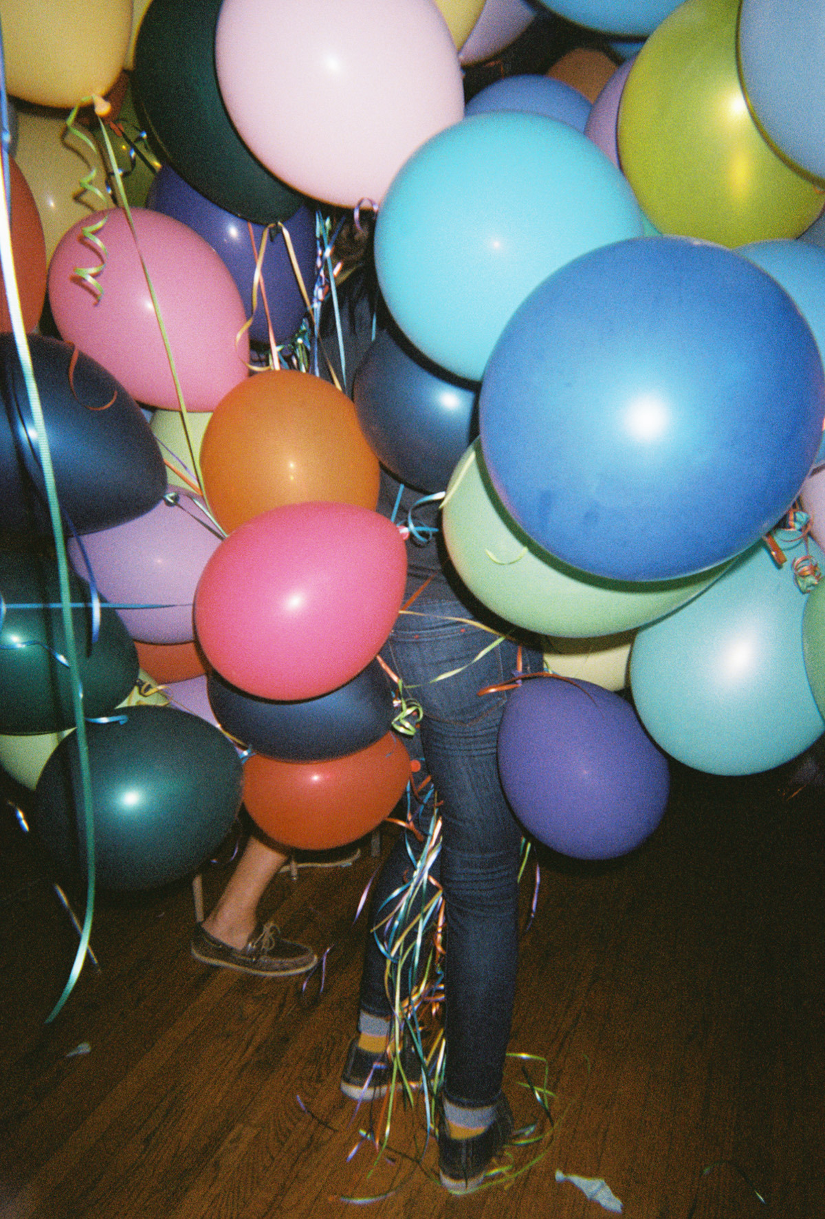 Joe's birthday balloons.  Fairfax, Los Angeles - April 2012 ©Lauren Randolph