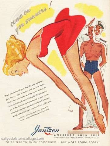 Advertisement for Jantzen swimsuits Source: Envisioning the American Dream