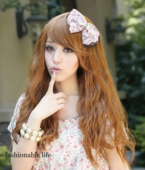 Princess Long Auburn Natral Wave Kanekalon Wig Hairpiece Skin Top Design  shop from Merpher.L