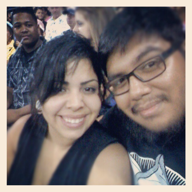 Having fun at the game #photobomb #modesto #modestonuts (Taken with Instagram)