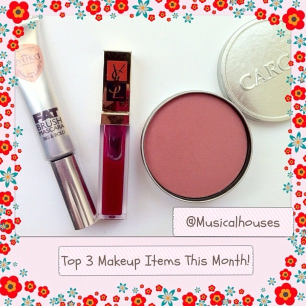 Top 3 makeup items this month, tagged by @iamicefrost ! Tagging @anonymoushedonist @lunalunaface @charlenejudith ! Cargo Lyon, YSL Gloss Pur, Eyeko Fat Brush Mascara! #beauty #blush #makeup #lipgloss #mascara #cargo #eyeko #ysl #sgig #sgigbeauty #igsg #igsgbeauty #tags  (Taken with Instagram)