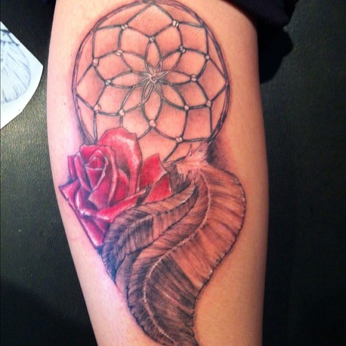 Fun dreamcatcher jammy from earlier. #tattoo #tattoos #tattoosbydeehutch #nofilter  (Taken with Instagram)