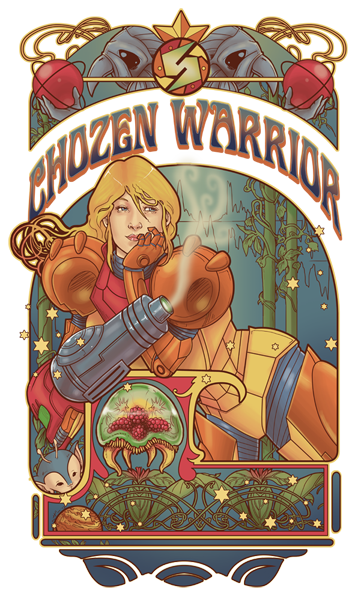 Art Nouveau depiction of Samus Aran by ~hezaa