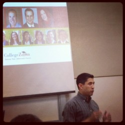 #usc alumn @collegezoom shares #entrepreneur journey along w  @o2max @cabochips and other in high school class of aspiring entrepreneurs  (Taken with Instagram)
