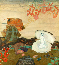 windypoplarsroom:   Edmund Dulac 'The Kingdom of the Pearl'
