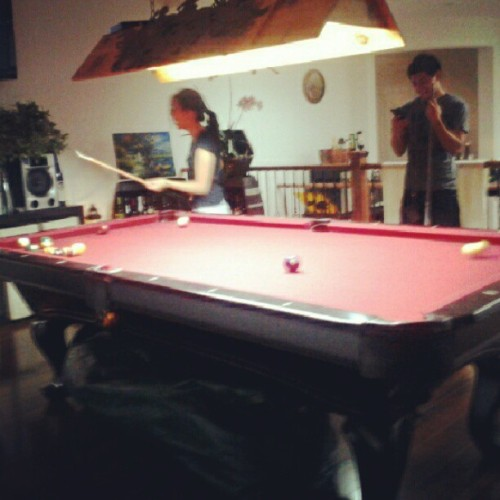 @abcdemi is the best billiard player ever. (Taken with Instagram)