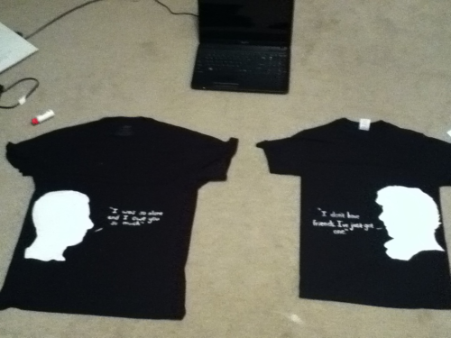 Our shirts look fabulous. (: