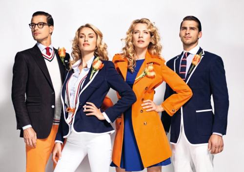 western-aristocracy:  Olympic Opening Ceremony Uniforms: Team Netherlands Best dressed in my opinion.