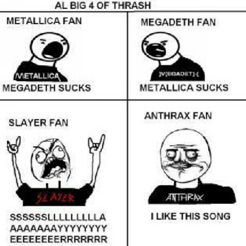 #Metal #Trash #Big4 #Metallica #Slayer #Megadeth #Anthrax (Taken with Instagram)