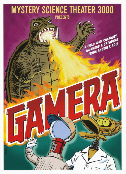 "bullit1987:  ""Gamera"", Mystery Science Theater 3000 mini-poster by Steve Vance"