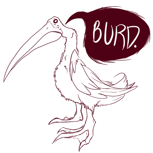 "BURD. I'm going to name him Guacamole And he'll dance and eat Stromboli. He'll even dance the cha cha slowly, Make you say ""Oh holey moley!"" …Wat."