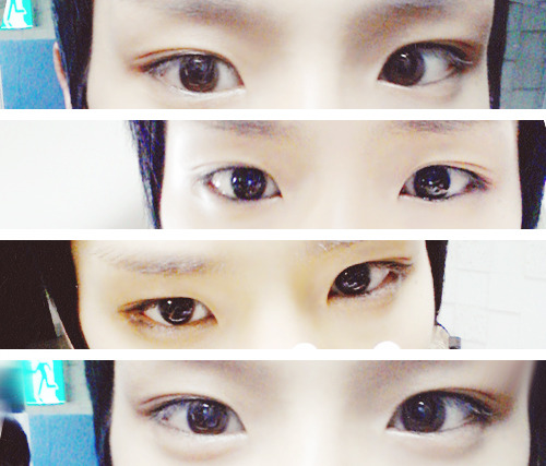 Himchan's pretty eyes.