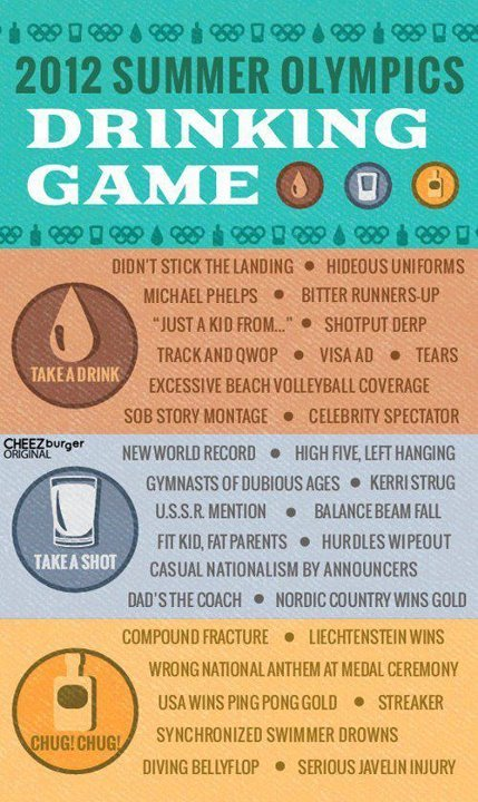 ithe-richie:  gumballriot:  Olympics Drinking Game  Where's the Olympics Triplecast when you need it!