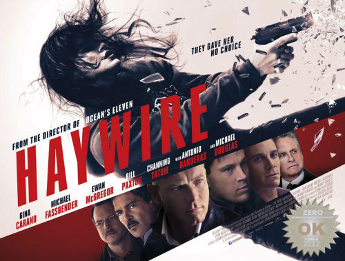 "Haywire (2011) A black ops super soldier seeks payback after she is betrayed and set up during a mission. Directed by always artsy and glossy Steven Soderbergh and starring a barrage of talent! What could go wrong? In the spy business… everything. The relatively unknown Gina Carano stars in this action packed game of lies and deceit. She's backed up by some (very) familiar faces, which i believe the ladies (of all ages) would cream over: Ewan McGregor, Michael Fassbender, Channing Tatum, Michael Douglas, Antonio Banderas and ""holy shit! it's Bill Paxton!"" Assassins sent on a mission, betrayal by superiors happen and the guns start blazin'! TRIVIA: The very first and very last word of the movie are the same: ""Shit."" The hero says it at the beginning, and the arch-villain at the end. A thrill ride that went sour… Some of the fight sequences were (well choreographed) great! A whole lot goes on action-wise but fails to hit my expectations. It's a conspiracy film with plot holes and inconsistencies (i had to read the movie info to make sure this was a Soderbergh film). Possibly the directors ""weakest film"" yet. The overall pacing of the film was quite slow. This was a great platform for lead Gina Carano, who gives us a decent ""female action star"" performance.  My verdict? It was OK. Not bad and not good. Something to watch on a sunday afternoon. Proof that, Big stars doesn't automatically equate to Big hit."