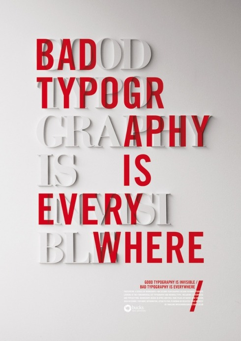 enochliew:  Good Typography is Invisible by Craig Ward