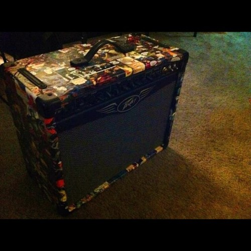 My marvel comic amp #bestoftheday #photooftheday #pictureoftheday #music #amp # marvel #iphonesia #instahub #instamood #instadaily #marvel #comics #diy #me #tube #peavey #iphoneonly #ipad #instagram #saturday (Taken with Instagram)