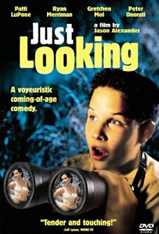 "Just Looking (1999)  It's 1955 and curious 14-year-old Bronx kid Lenny has a mission for his summer: to witness two adults in the midst of an ""act of love."" When his mother sends him to Queens to stay with his pregnant aunt and uncle, Lenny thinks his plan is doomed, until he meets his gorgeous adult neighbor Hedy and hooks up with some like-minded neighborhood kids. Soon, Lenny is learning more than he ever expected about life, love and growing up.  Cast: Ryan Merriman Follow this blog for the neverending list of all the teen movies ever made!"