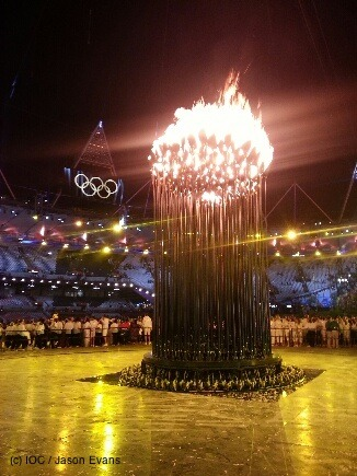 olympics:  A close look at the Olympics Flame from last night's Opening Ceremony
