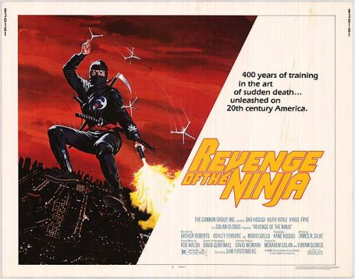Revenge Of The Ninja (1983) WATCH ENTIRE FILM HERE I remember watching this on video when I was ten years old. It was kick-ass awesome. It's dated badly though and has that production look and feel of an A-Team episode.