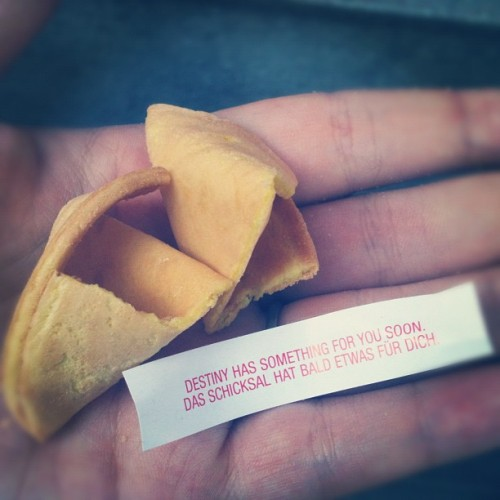 fortune cookie. (Taken with Instagram)