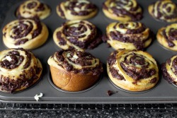 Chocolate chip swirl buns